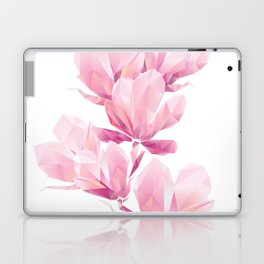 Crystal Pink orchid, polygon flowers, beautiful floral background Laptop & iPad Skin