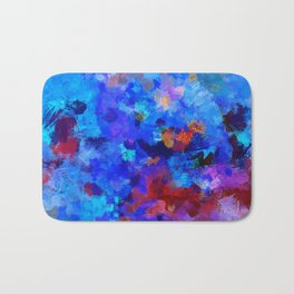 Abstract Seascape Painting Bath Mat