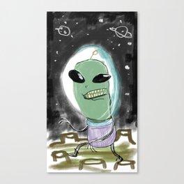 Space Alien Canvas Print