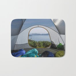 Downtown San Francisco from the tent Bath Mat