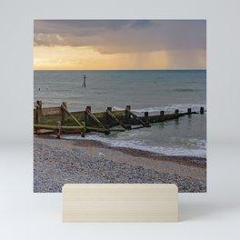 A view across Sheringham beach on the North Norfolk coast Mini Art Print