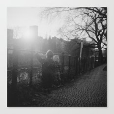 Two Boys in Berlin Canvas Print