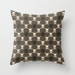 Halloween Skull Pattern Throw Pillow