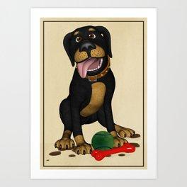 The friendly dog Art Print
