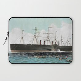 Vintage SS Great Eastern Steamboat Painting (1858) Laptop Sleeve