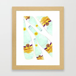 Topo Chico Mexican Sparkling Mineral Water Seltzer Bottle Framed Art Print