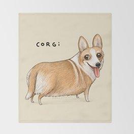 Corgi Throw Blanket