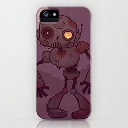 Rusty Zombie Robot iPhone Case