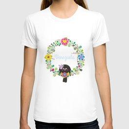 Flower Garland Corona Florida T-shirt
