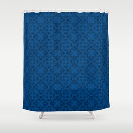 Lapis Blue Shadows Shower Curtain
