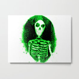 Skeleton's portal Green & white Metal Print