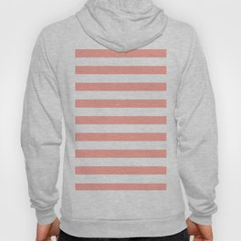 Simply Striped in Salmon Pink and White Hoody