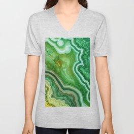 Green Onyx Marble Unisex V-Neck
