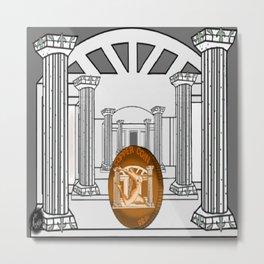 Necropolis Coin Copper Metal Print