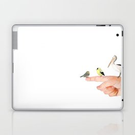Small Birds Perching on a Hand Laptop & iPad Skin