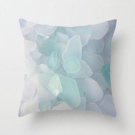 Sea Glass White Throw Pillow