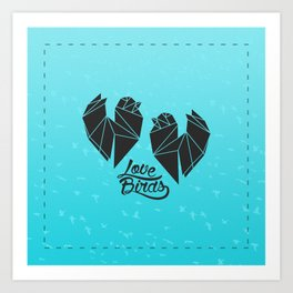 Tiny Little Love Birds Art Print