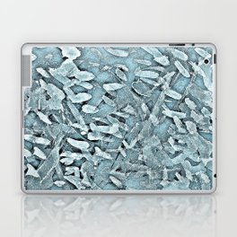 Ocean Tips Silver Blue Abstract Laptop & iPad Skin