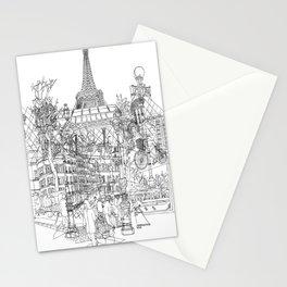 Paris! B&W Stationery Cards