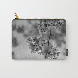 B&W Cherry Blossoms Carry-All Pouch