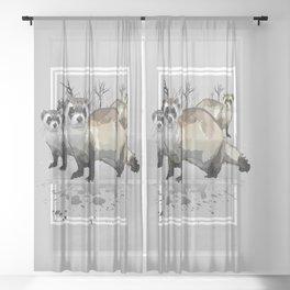 Ferrets Sheer Curtain