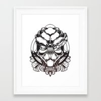 garrus Framed Art Prints featuring Mass Effect. Garrus Vakarian by OneAppleInBox