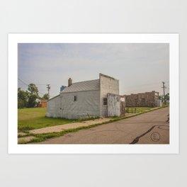 Post Office, Regan, North Dakota 1 Art Print