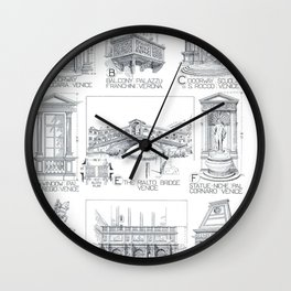 Fletcher's History of Architecture (1946) - Italian Renaissance - Church and Cathedral Details Wall Clock