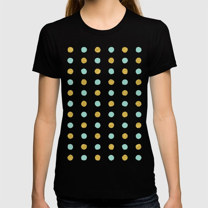 Dalmatian - Sea Foam & Gold Foil #622 T-shirt