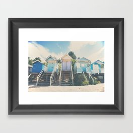 beach huts photograph Framed Art Print