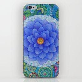 Violet Flower Mandala iPhone Skin