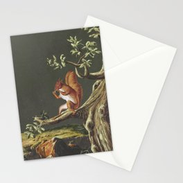Vintage Squirrel Art, 18th Century Stationery Cards
