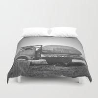 potato Duvet Covers featuring Spud Potato by Jane Lacey Smith