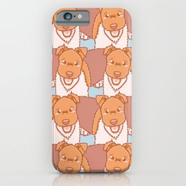 Vector Fox Terrier Pattern iPhone Case