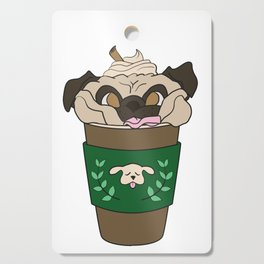 Coffee Pug Cutting Board