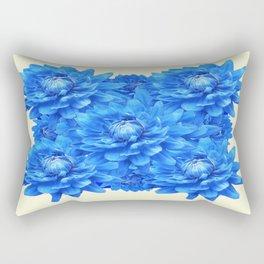 Decorative  Opulent Baby Blue Dahlia Flowers Art Work Design Rectangular Pillow