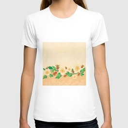 Abstract roses background T-shirt
