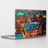copenhagen Laptop & iPad Skins featuring Copenhagen Rooftops by E.M. Shafer