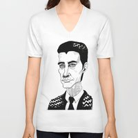 dale cooper V-neck T-shirts featuring Cooper by Simone Bellenoit : Art & Illustration