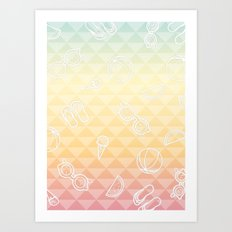 Summer is a state of mind Art Print