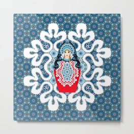 Little Matryoshka Metal Print
