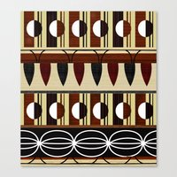mid century Canvas Prints featuring Mid Century Pattern Composition by Elisandra