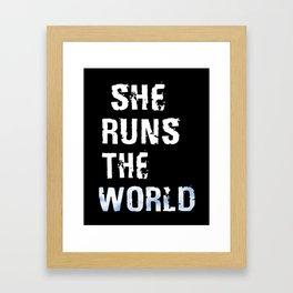 She Runs The World Framed Art Print