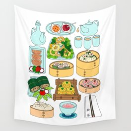 Dim Sum Lunch Wall Tapestry
