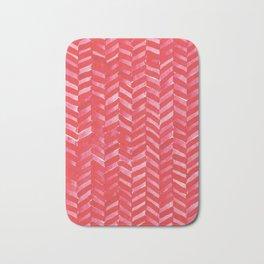 Hot Pink Herringbone Bath Mat
