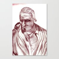 actor Canvas Prints featuring 1898 Stage actor by seb mcnulty