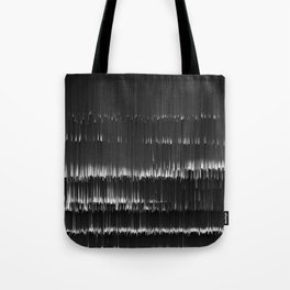 BLACK LAGOON - Abstract Digital Image Texture Glitch Art Tote Bag