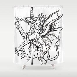 Logres Dragon Shower Curtain