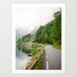 Norwegian Road Trip Art Print
