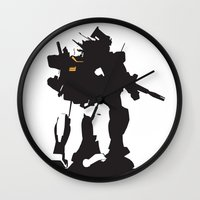 gundam Wall Clocks featuring Gundam RX-78-2 by Jason Weisbrot